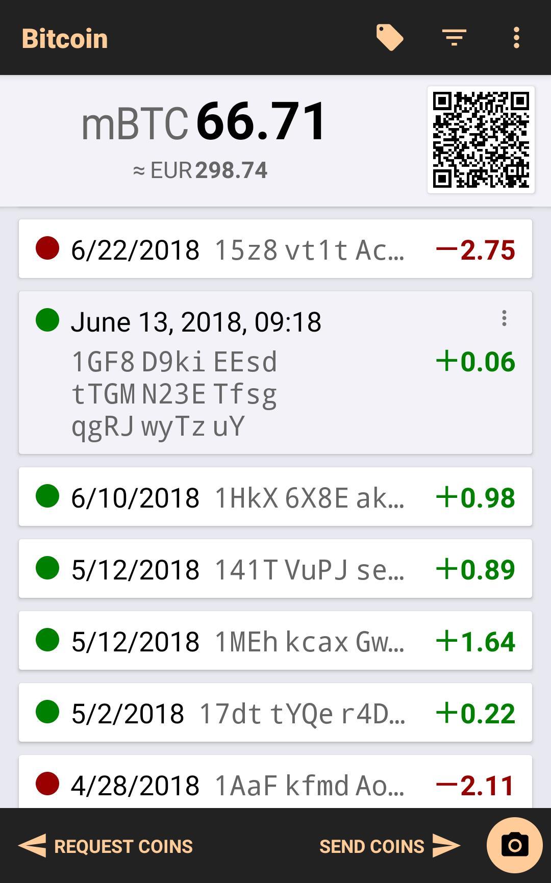 Bitcoin Wallet 8.07 Screenshot 1