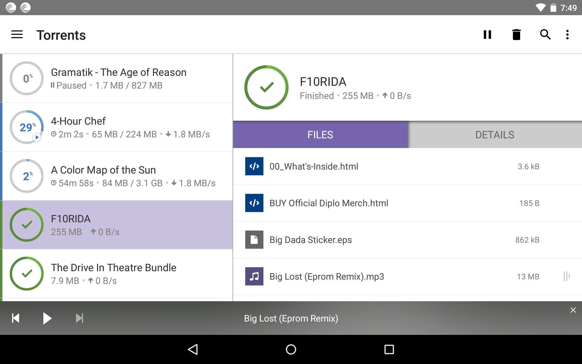 BitTorrent®- Torrent Downloads 6.1.7 Screenshot 6