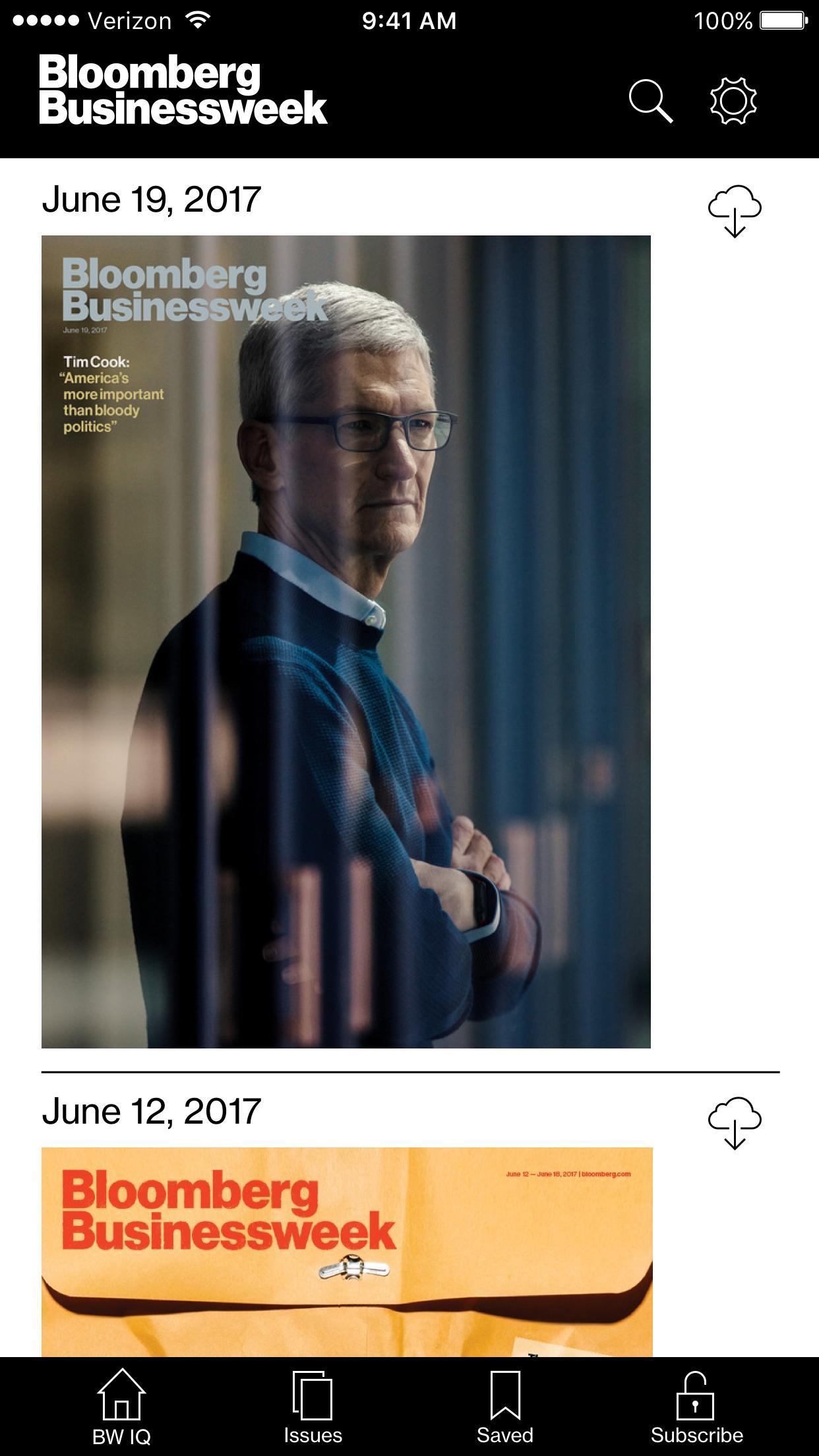Bloomberg Businessweek+ 2.5.3 Screenshot 1