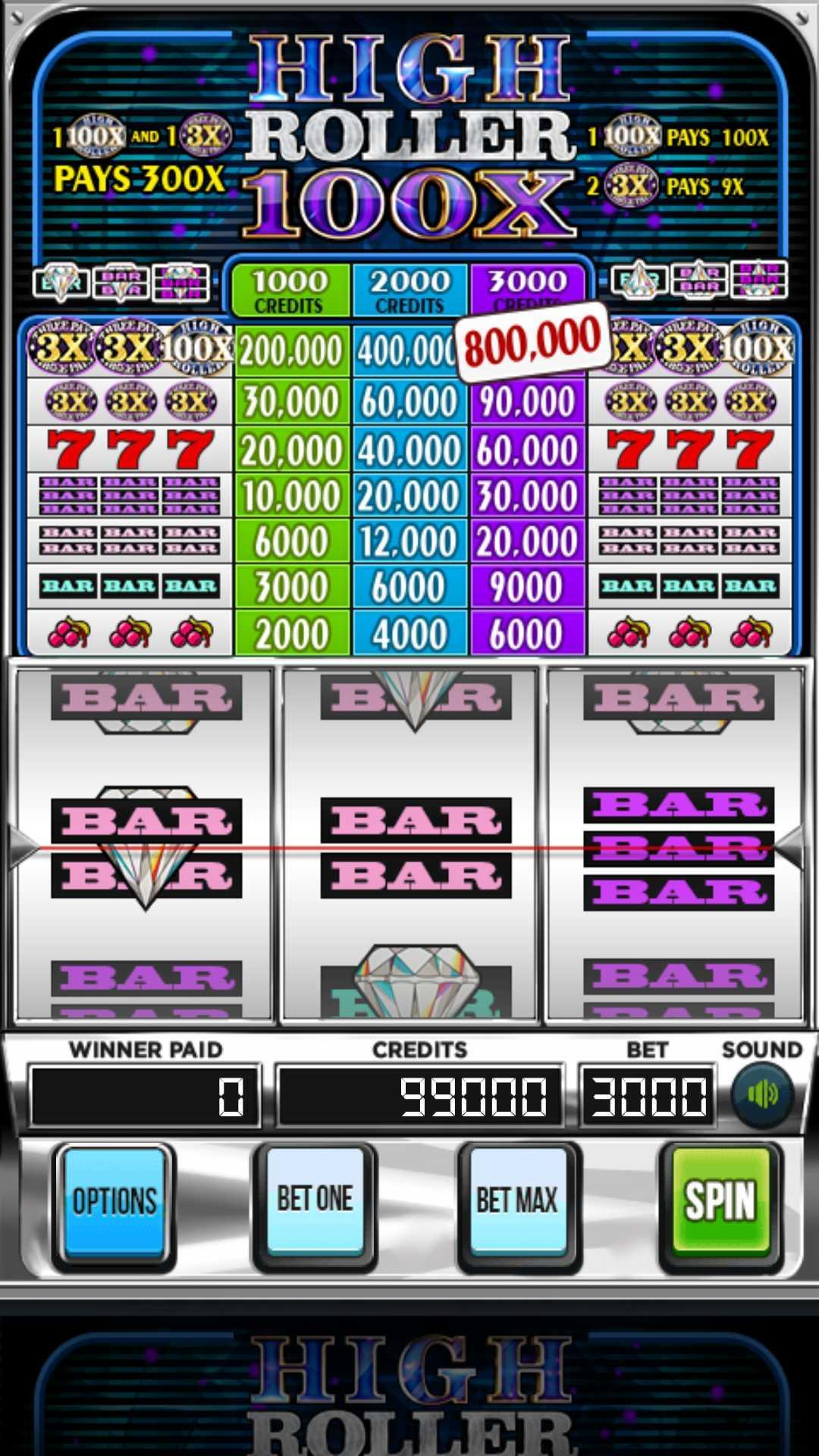 Triple 100x High Roller Slots 2.853 Screenshot 1
