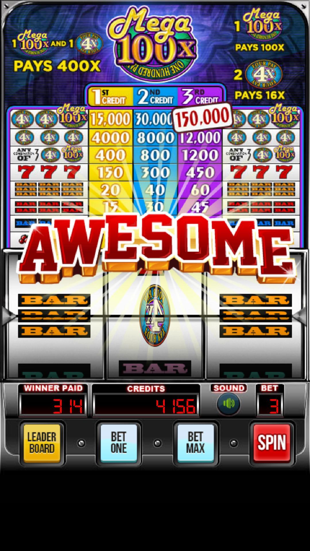MEGA 100x Slots 2.852 Screenshot 1