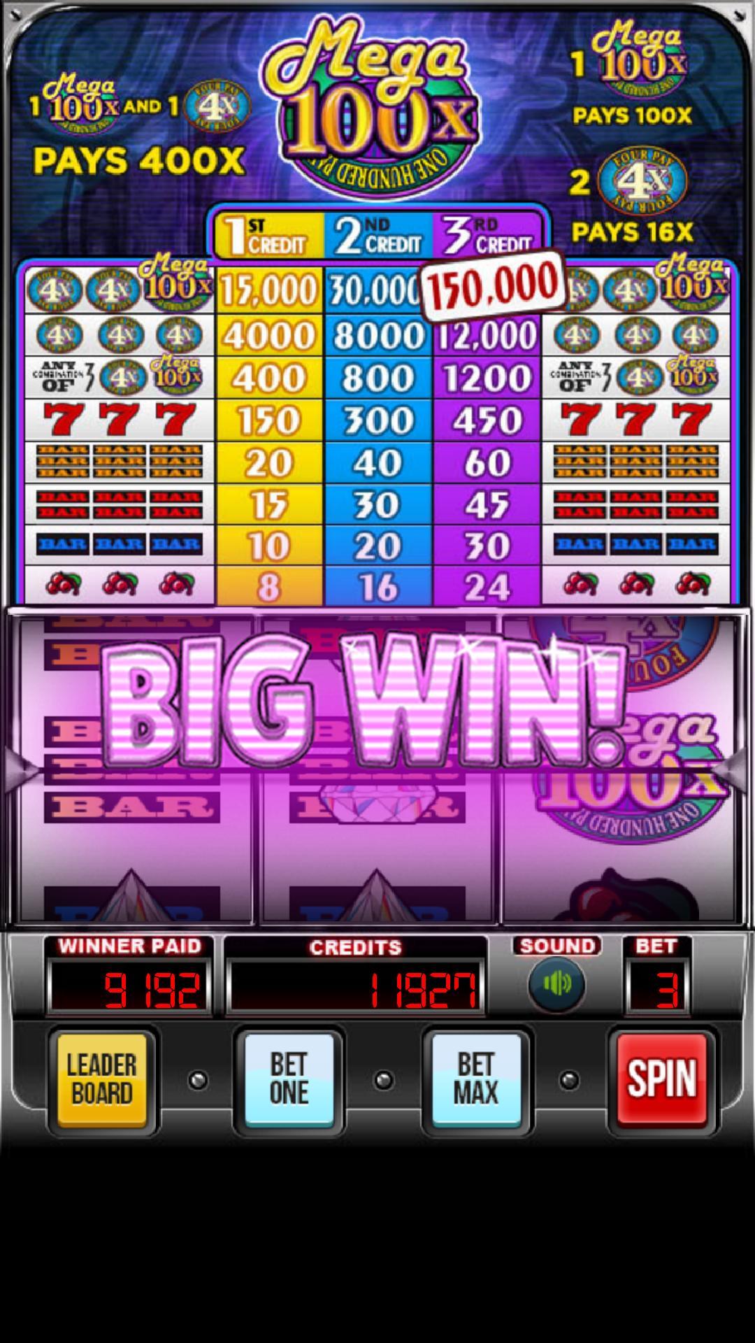 MEGA 100x Slots 2.852 Screenshot 2
