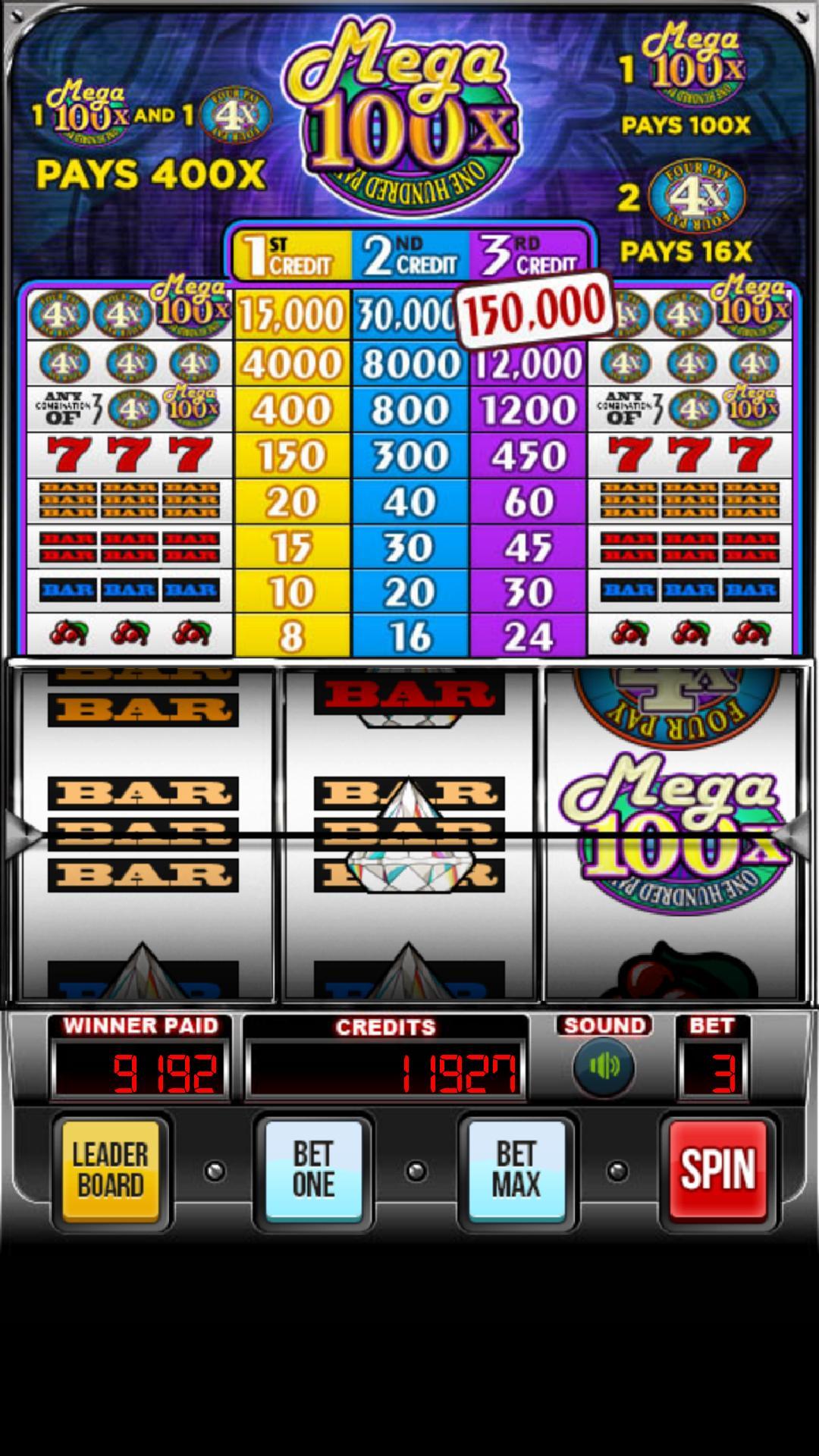 MEGA 100x Slots 2.852 Screenshot 3