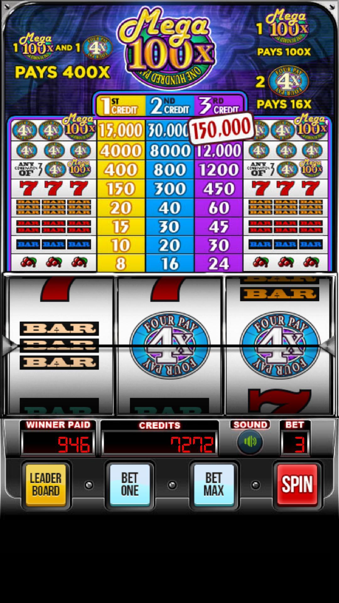 MEGA 100x Slots 2.852 Screenshot 4