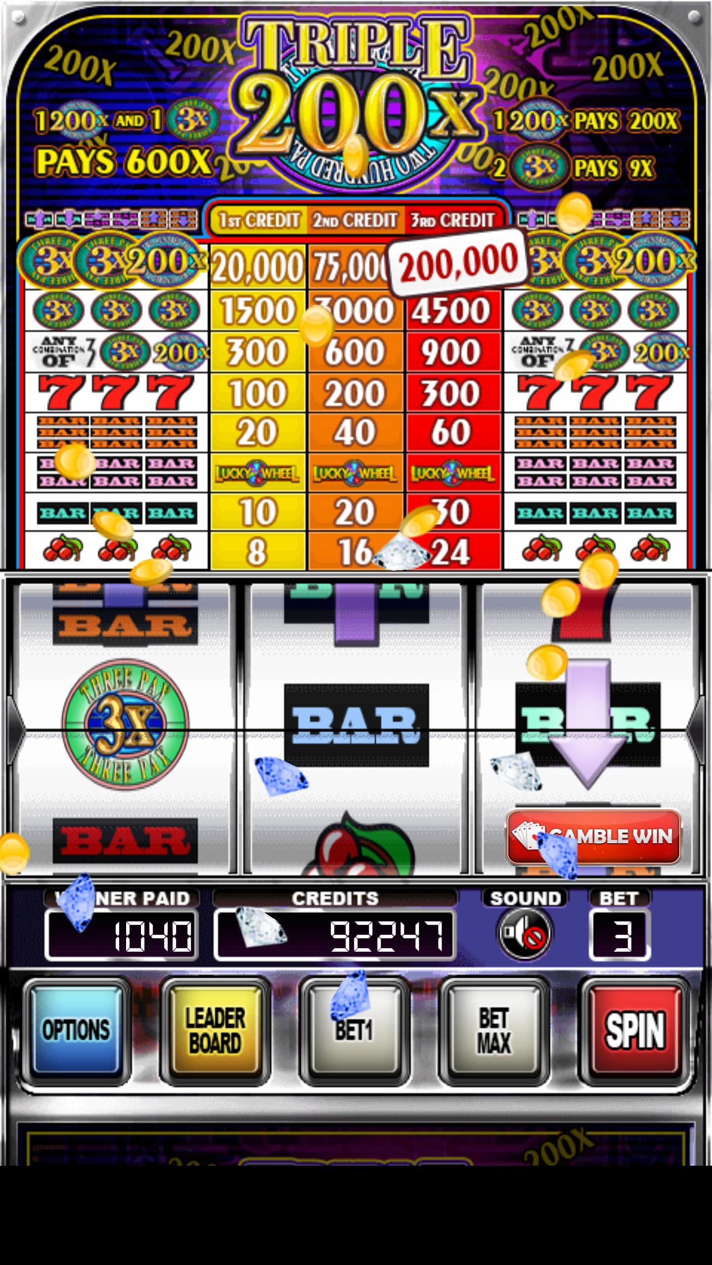 Triple 200x Pay Slot Machines 2.853 Screenshot 5