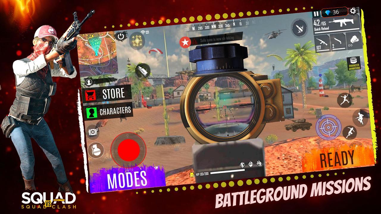 3D Squad Battleground Free Fire 3D Team Shooter 1.8 Screenshot 10