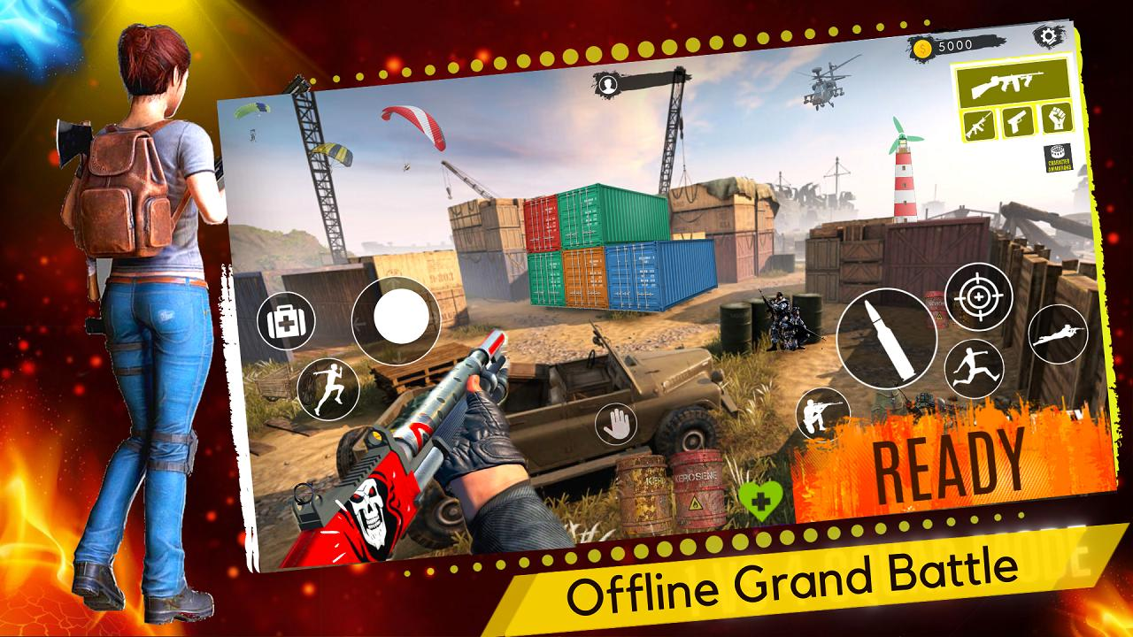 3D Squad Battleground Free Fire 3D Team Shooter 1.8 Screenshot 6