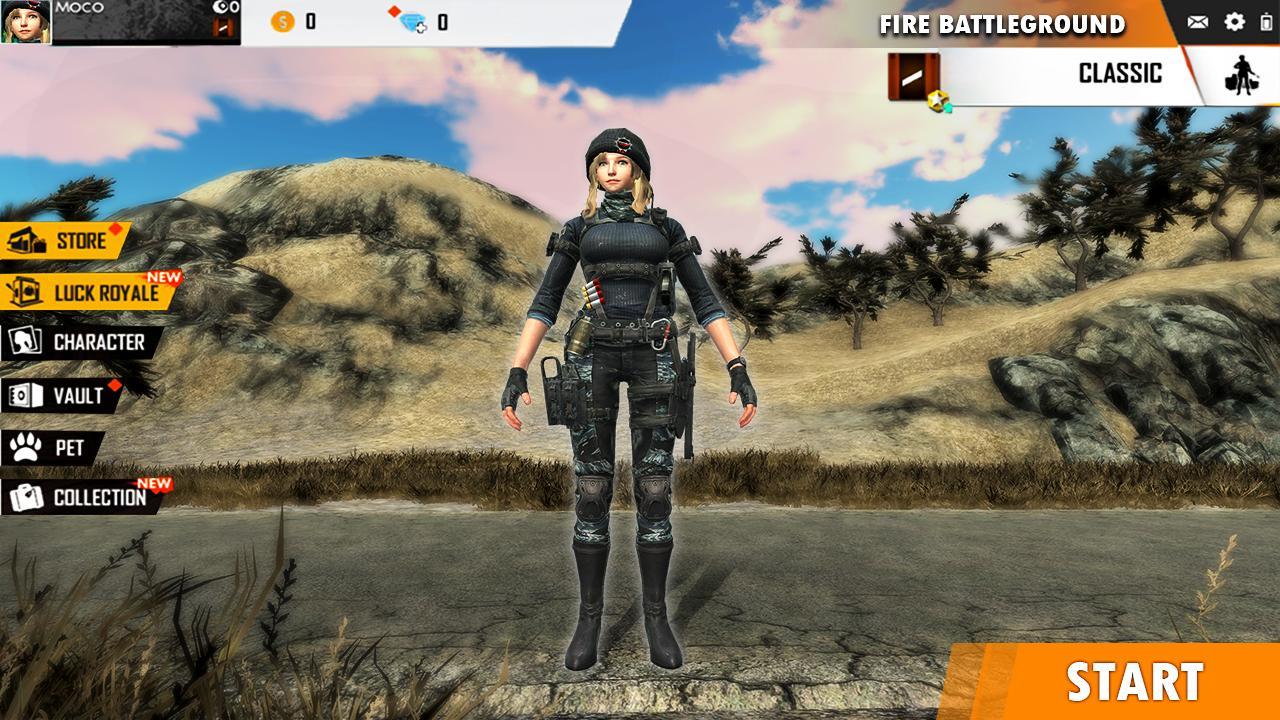 Fire Free Battleground Survival Hopeless Squad 1 Screenshot 1