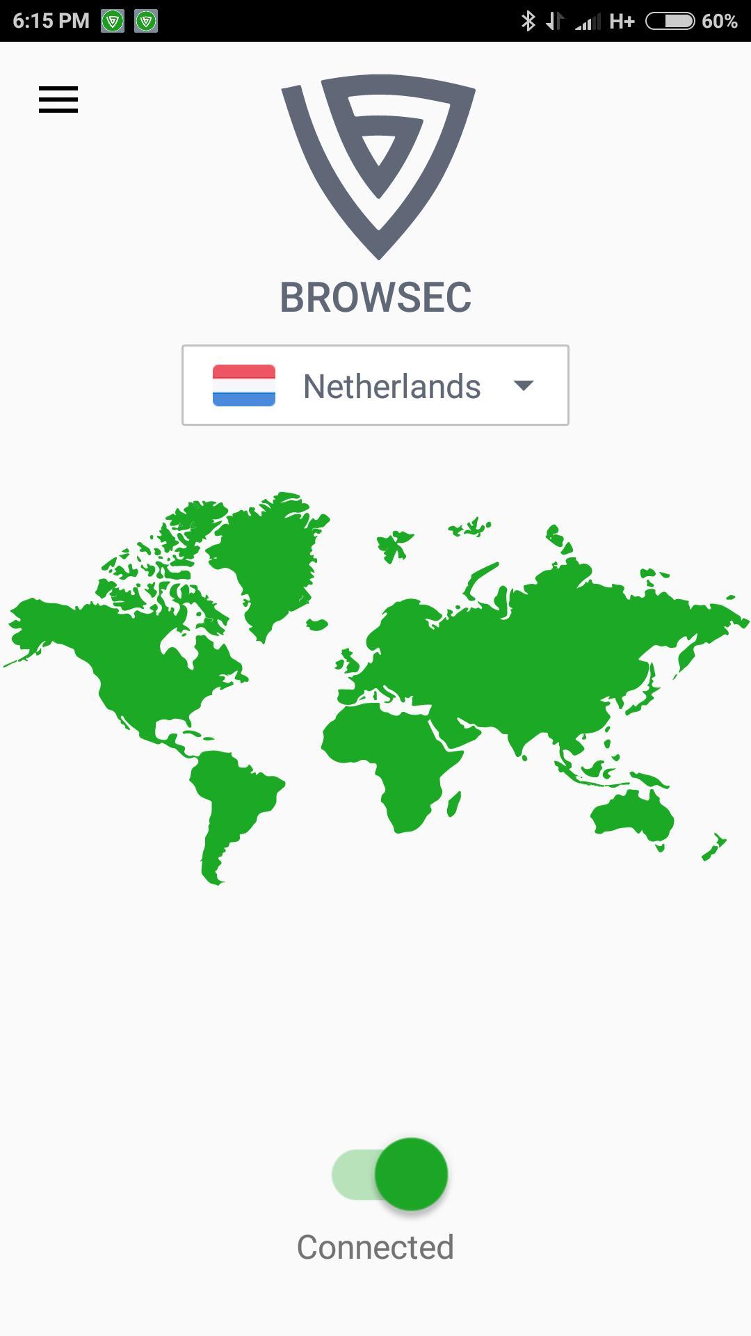 Browsec VPN - Free and Unlimited VPN 0.34 Screenshot 1