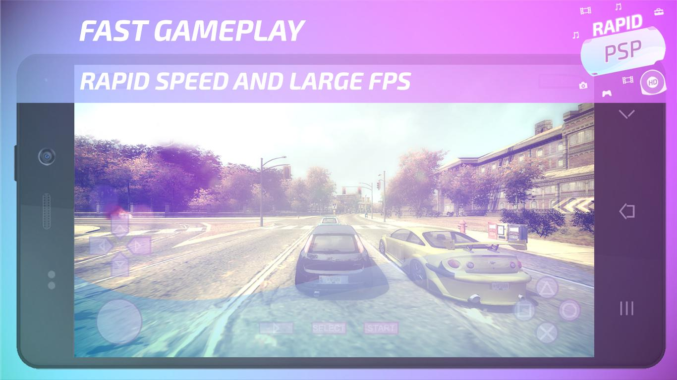 Rapid PSP Emulator for PSP Games 4.0 Screenshot 1