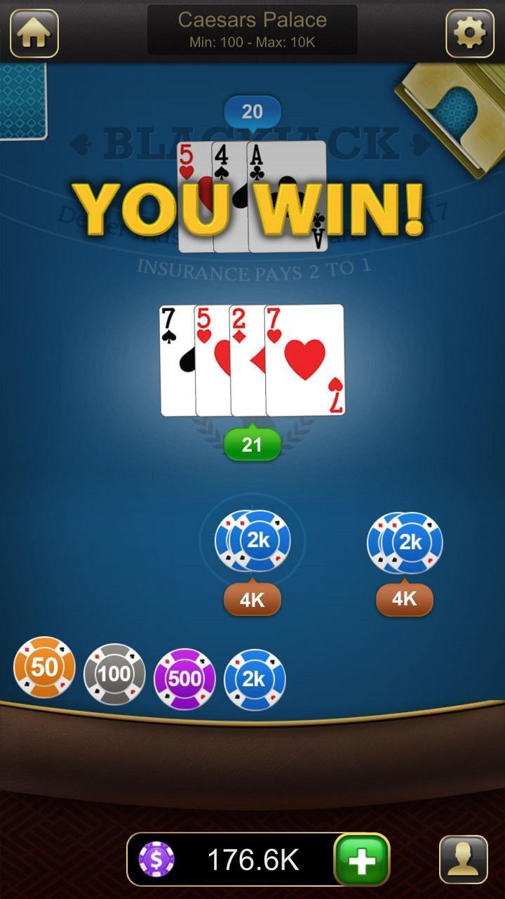 Blackjack 21 1.2.7 Screenshot 2