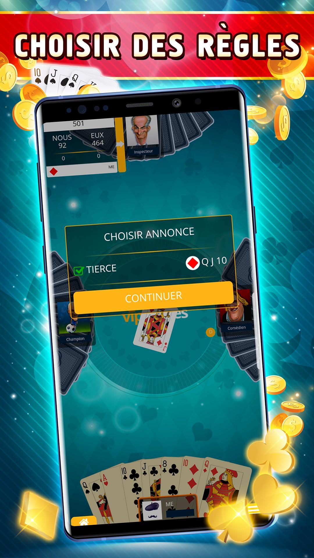 Belote Offline Single Player Card Game 2.0.23 Screenshot 3