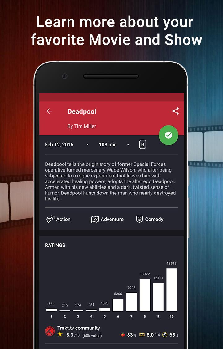 CineTrak Your Movie and TV Show Diary 0.7.64 Screenshot 3