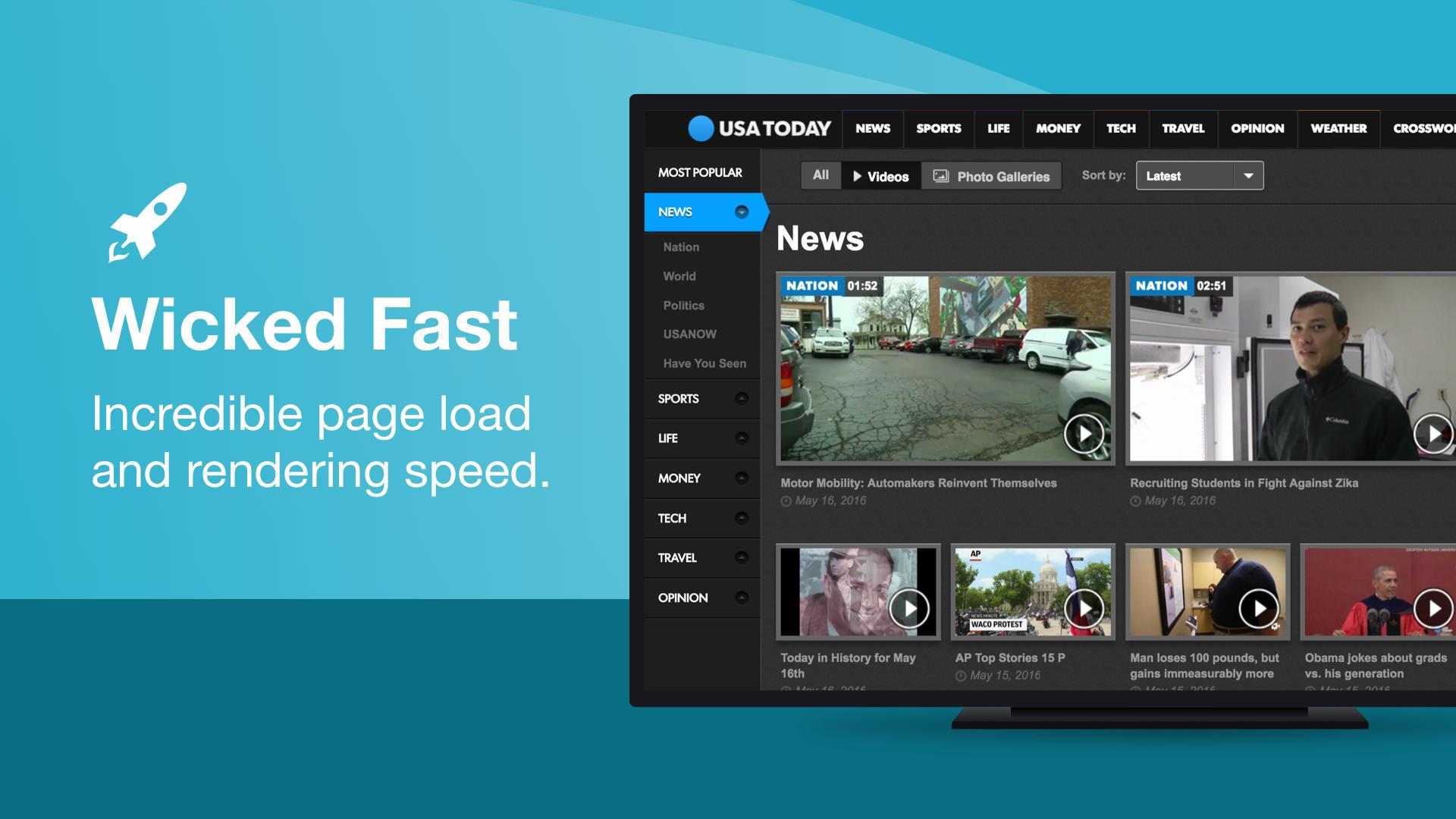 Puffin TV Fast Web Browser 7.7.2.30719 Screenshot 1
