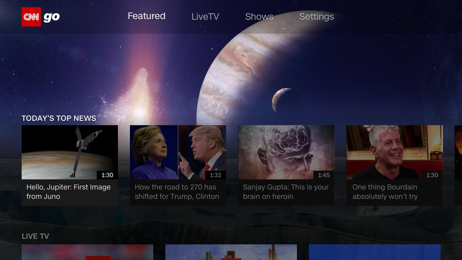 CNNgo for Android TV 2.9.0.445 Screenshot 2
