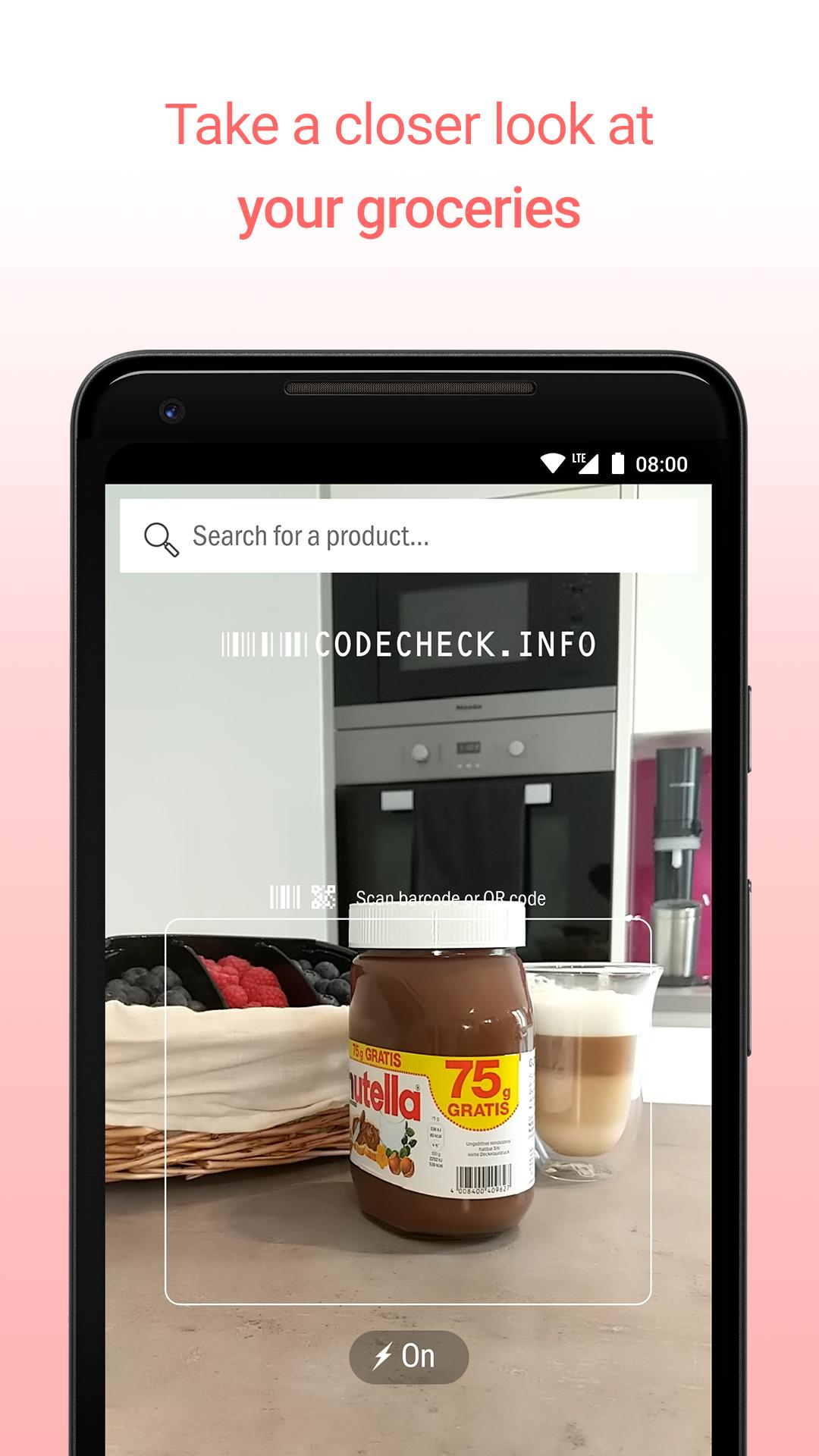 CodeCheck Food & Cosmetic Product Scanner 5.3.5 Screenshot 2