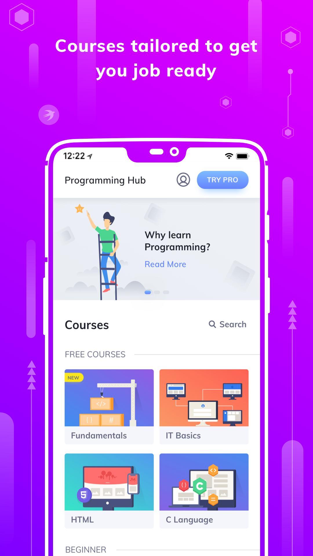 Programming Hub Learn to Code 5.0.14 Screenshot 1