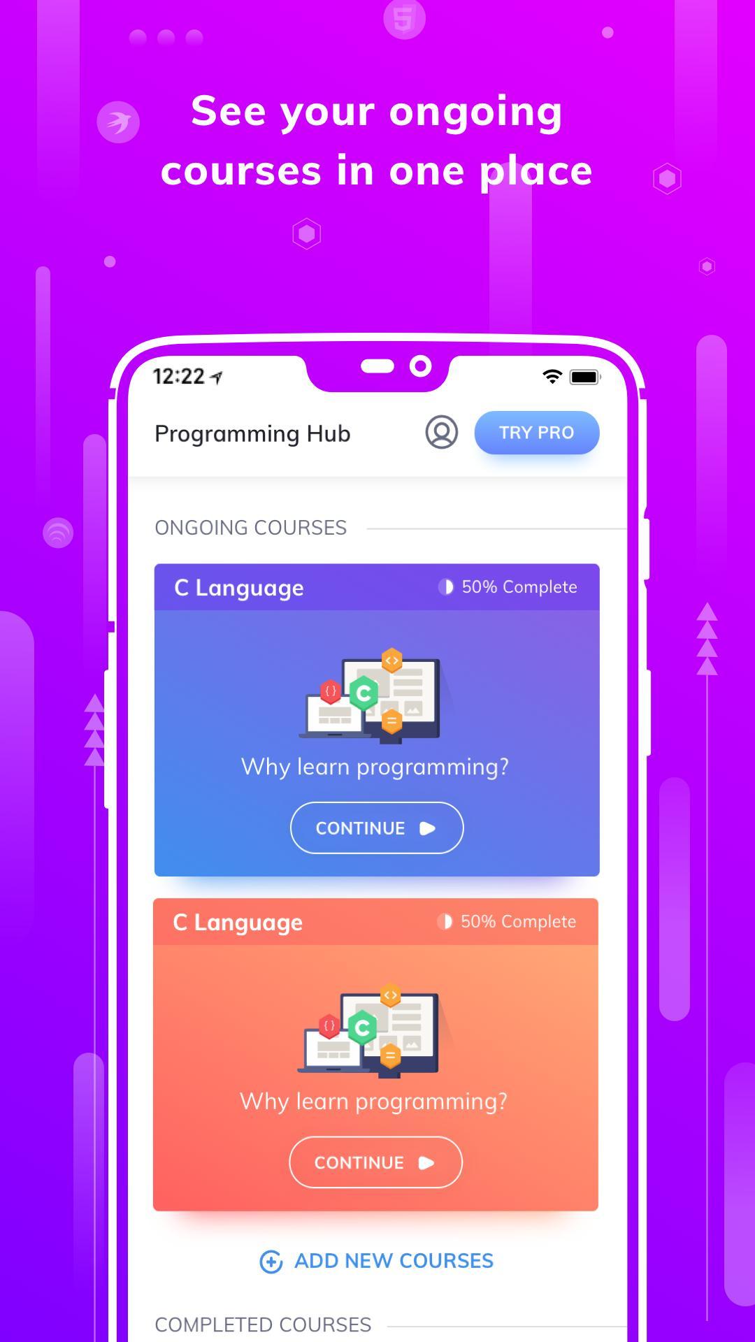 Programming Hub Learn to Code 5.0.14 Screenshot 2