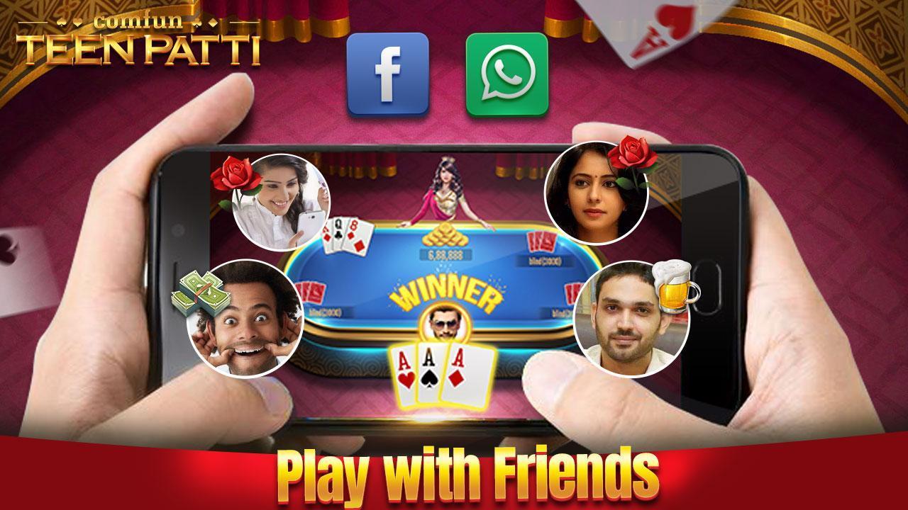 Teen Patti Comfun-Indian 3 Patti  Card Game Online 5.8.20200806 Screenshot 1