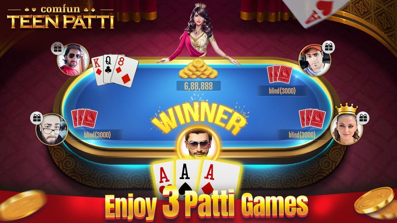 Teen Patti Comfun-Indian 3 Patti  Card Game Online 5.8.20200806 Screenshot 3