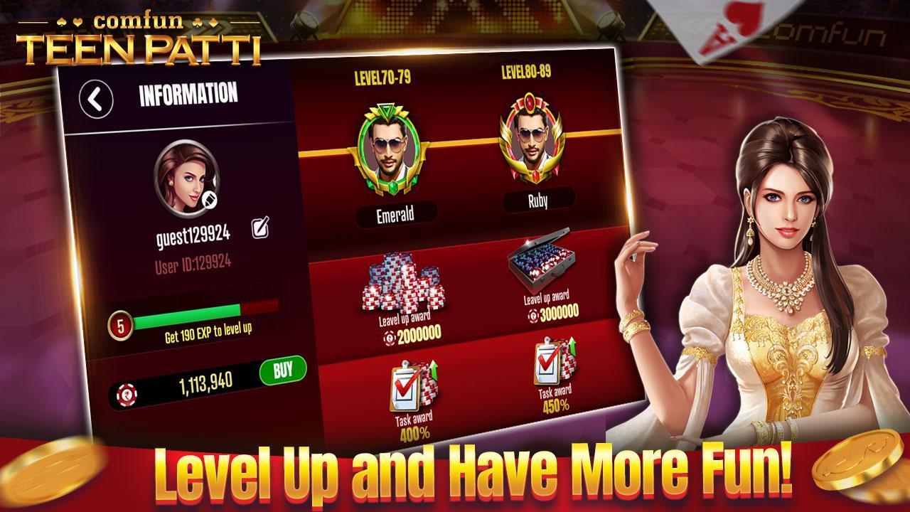 Teen Patti Comfun-Indian 3 Patti  Card Game Online 5.8.20200806 Screenshot 5