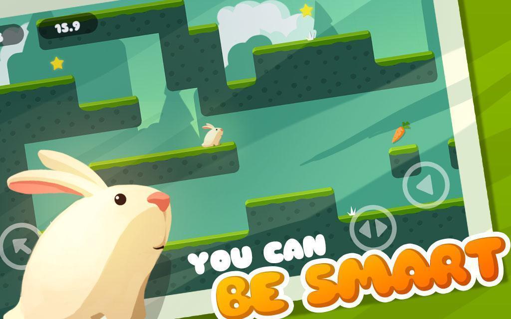 Greedy Rabbit 🐰🥕🍓 Adventure of bunny run & jump 3.0.2 Screenshot 1
