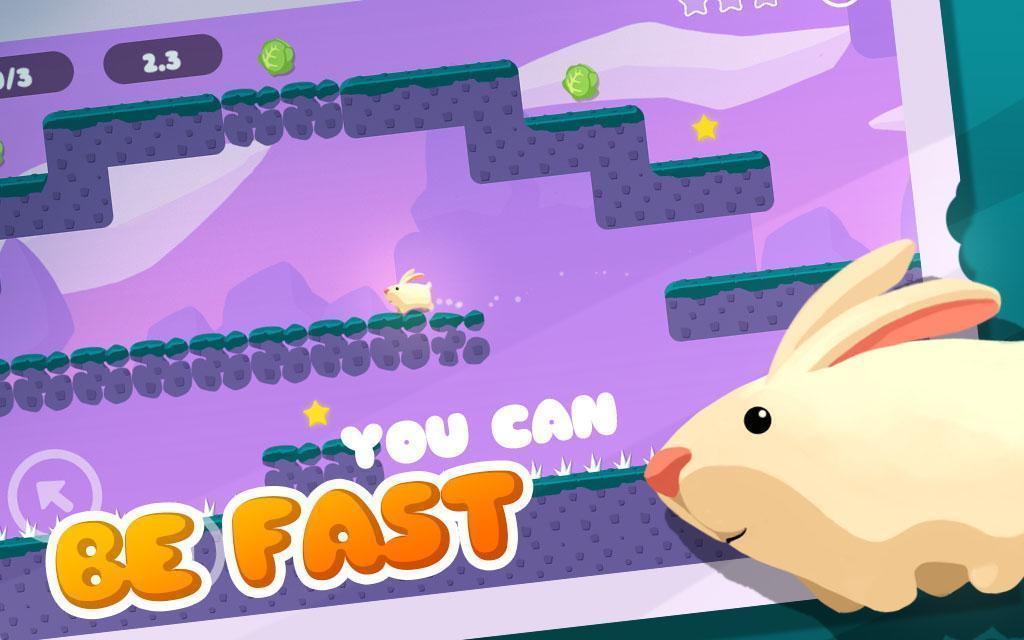 Greedy Rabbit 🐰🥕🍓 Adventure of bunny run & jump 3.0.2 Screenshot 2