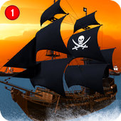 Caribbean Sea Outlaw Pirate Ship Battle 3D app icon