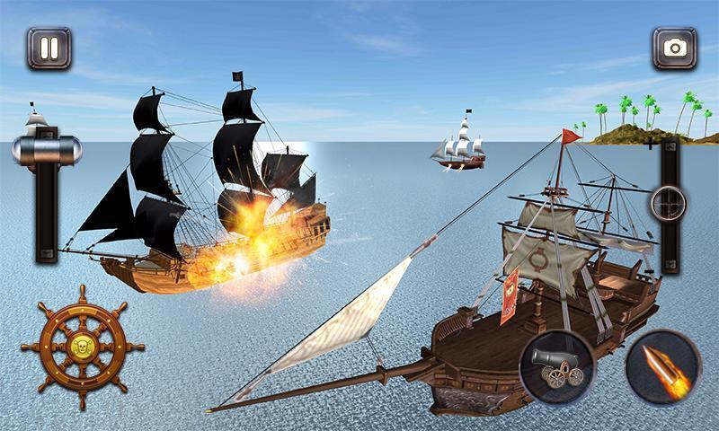 Caribbean Sea Outlaw Pirate Ship Battle 3D 1.0.3 Screenshot 2