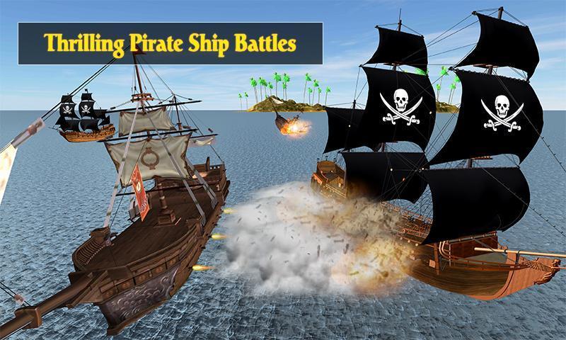 Caribbean Sea Outlaw Pirate Ship Battle 3D 1.0.3 Screenshot 3