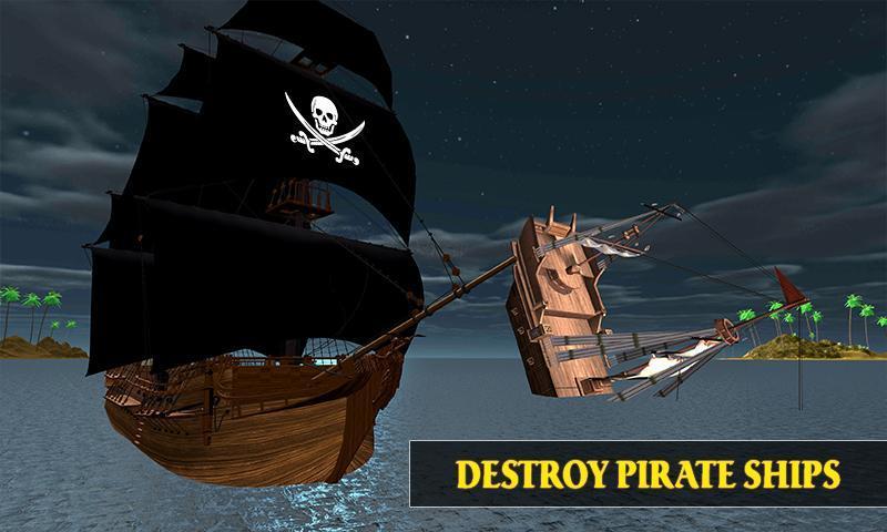 Caribbean Sea Outlaw Pirate Ship Battle 3D 1.0.3 Screenshot 4