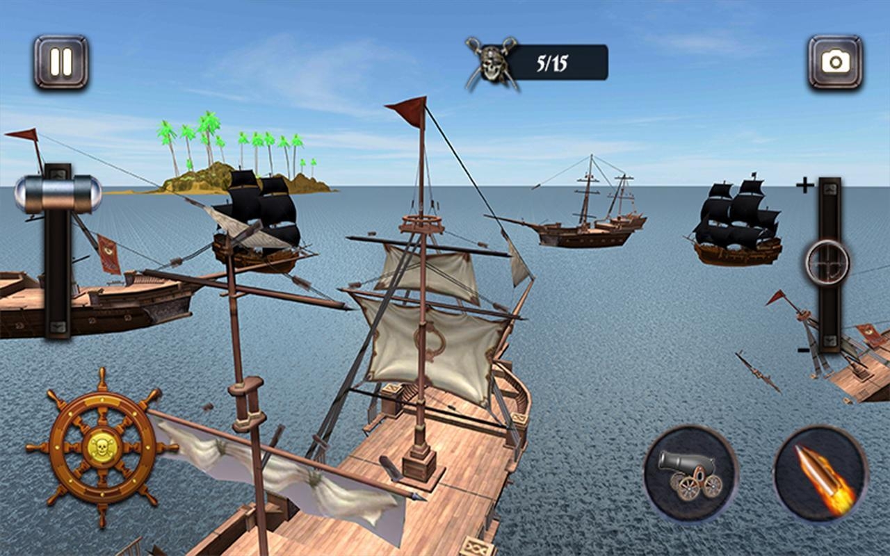 Caribbean Sea Outlaw Pirate Ship Battle 3D 1.0.3 Screenshot 5