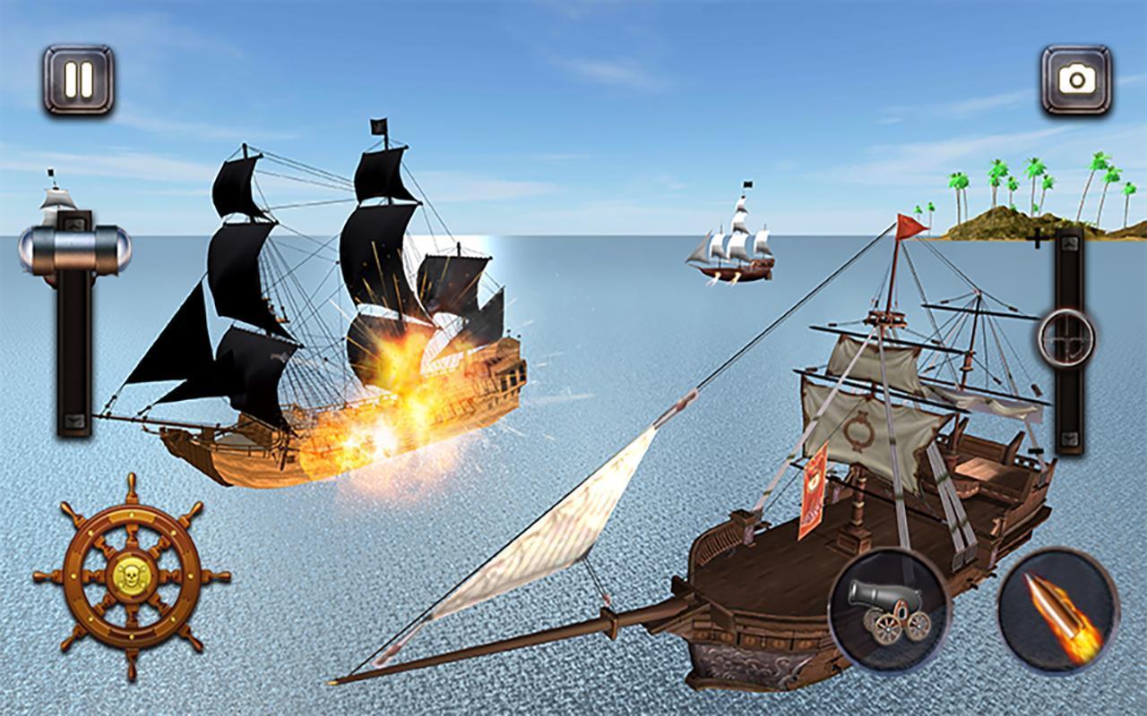 Caribbean Sea Outlaw Pirate Ship Battle 3D 1.0.3 Screenshot 6