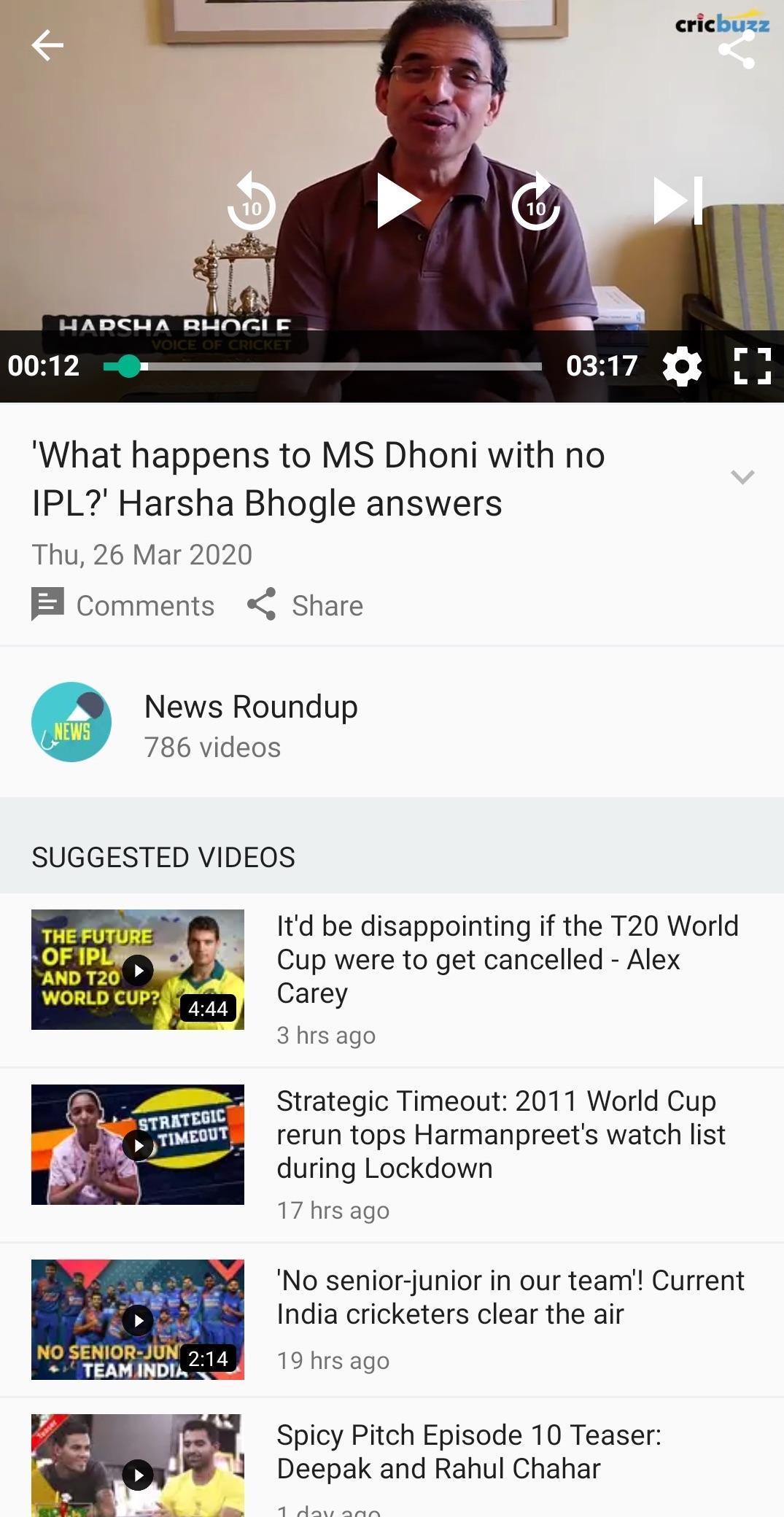 Cricbuzz Live Cricket Scores & News 4.8.003 Screenshot 6