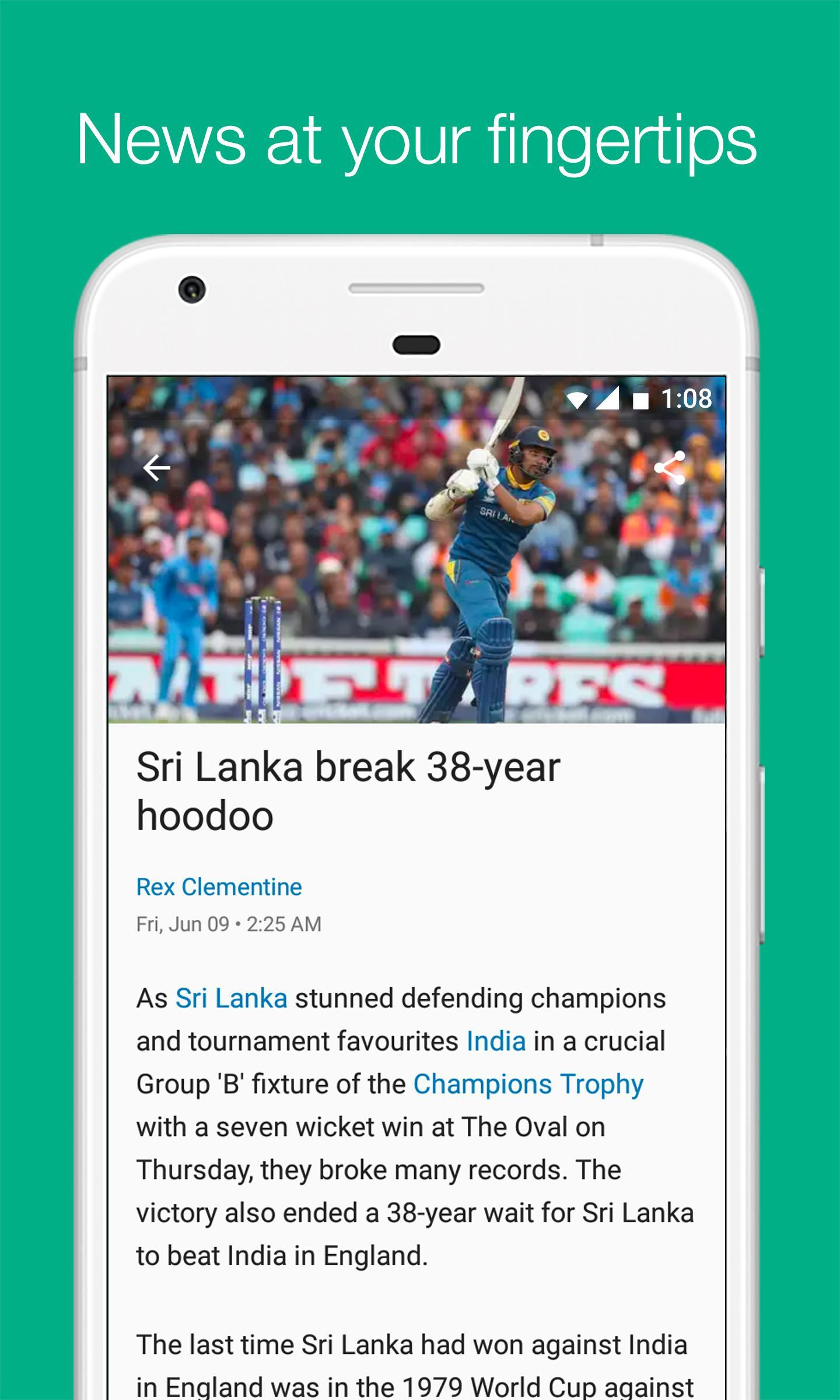 Cricbuzz Live Cricket Scores & News 4.8.003 Screenshot 8