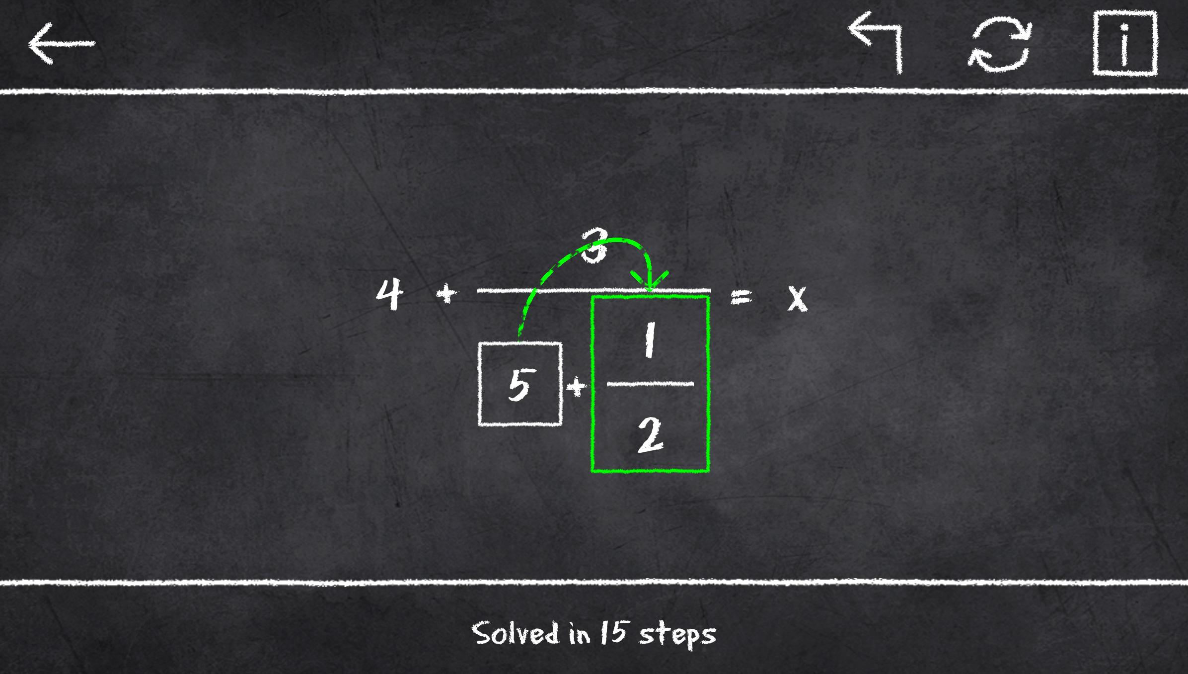 x=1: Learn to solve equations 2.3.2 Screenshot 3