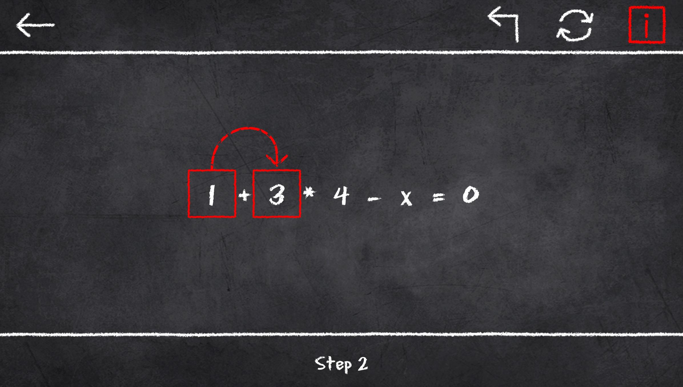 x=1: Learn to solve equations 2.3.2 Screenshot 5