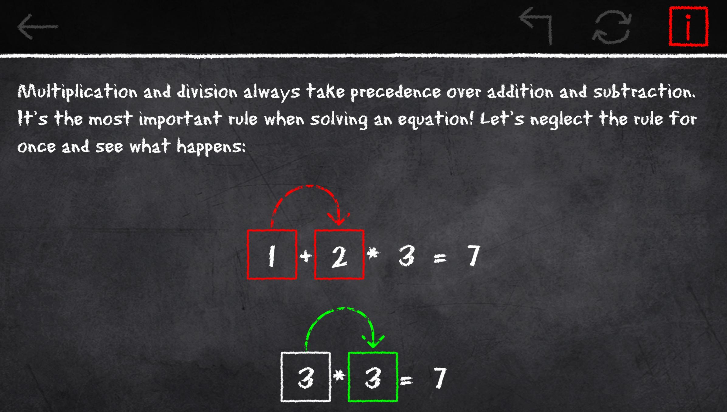 x=1: Learn to solve equations 2.3.2 Screenshot 6