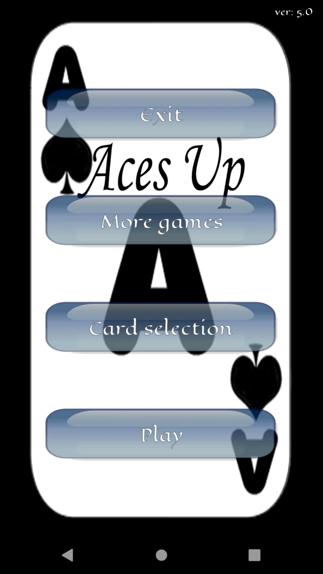 Aces Up Solitaire 5.4 Screenshot 1