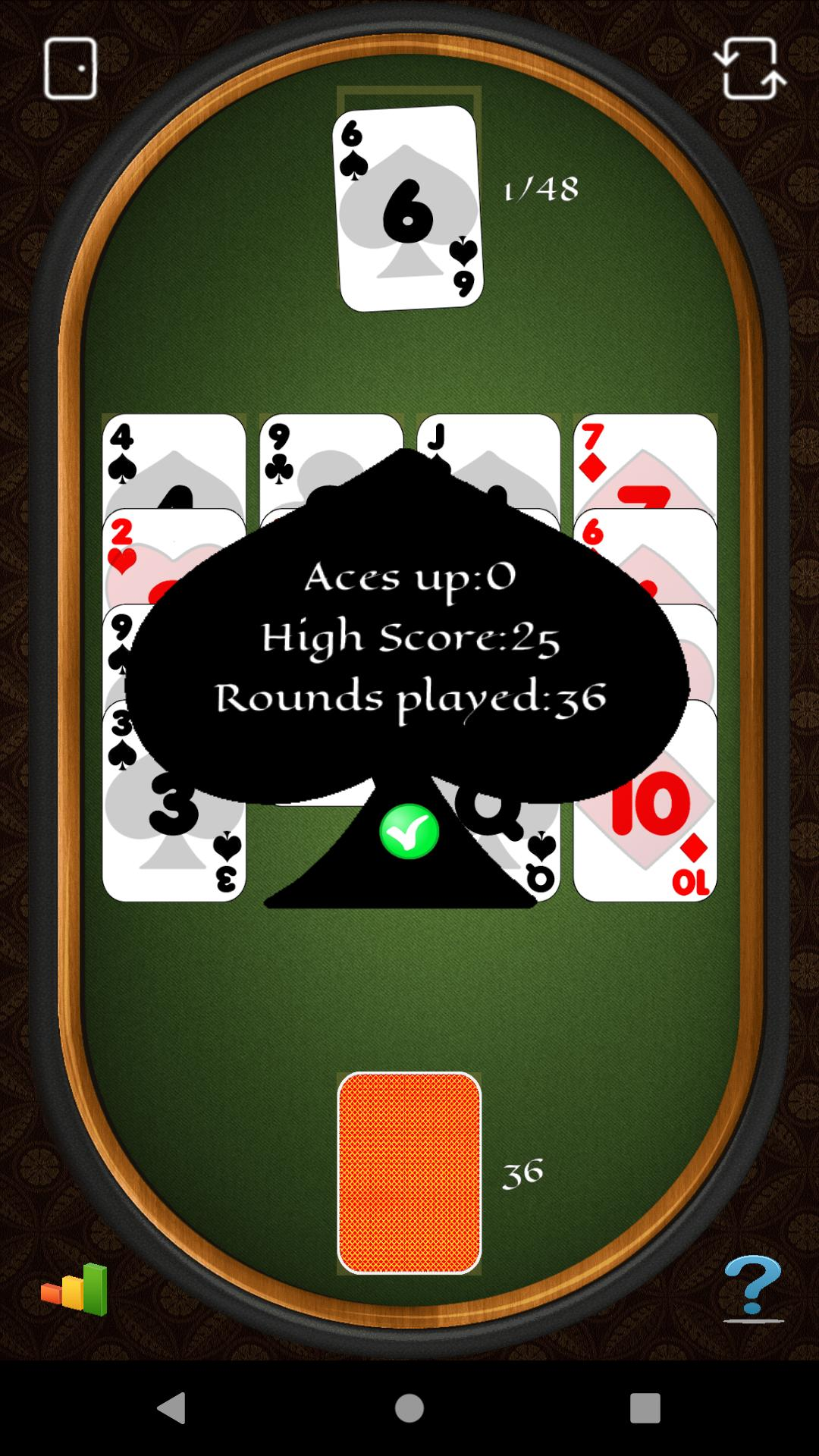 Aces Up Solitaire 5.4 Screenshot 2