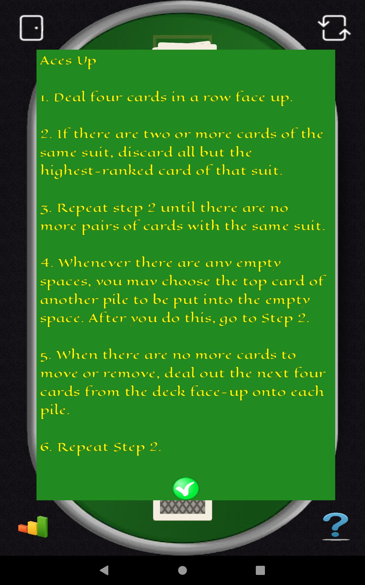 Aces Up Solitaire 5.4 Screenshot 24