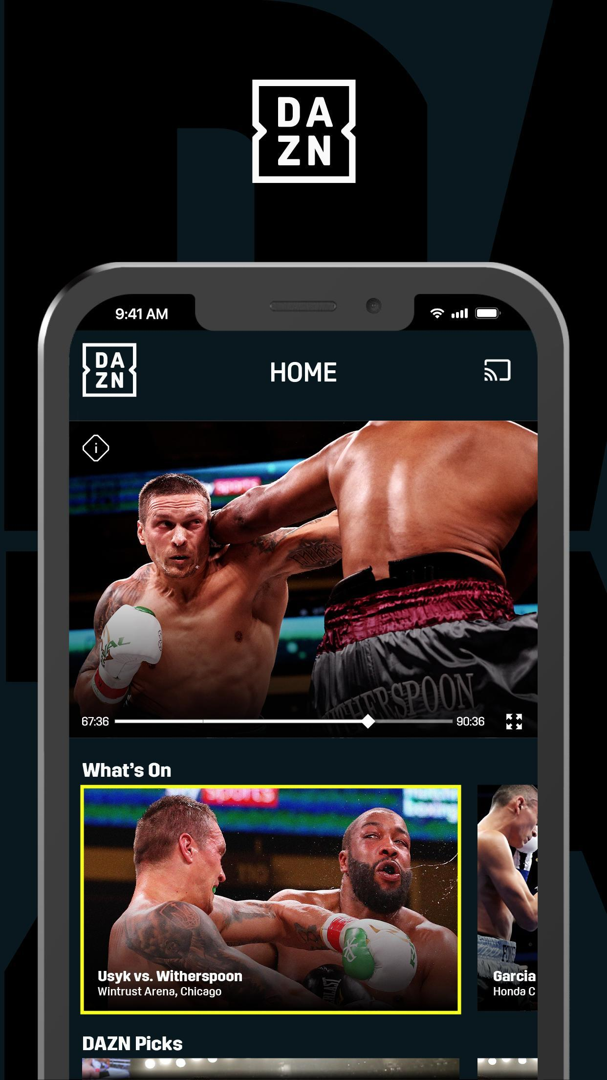 DAZN Live Fight Sports: Boxing, MMA & More 1.69.13 Screenshot 1