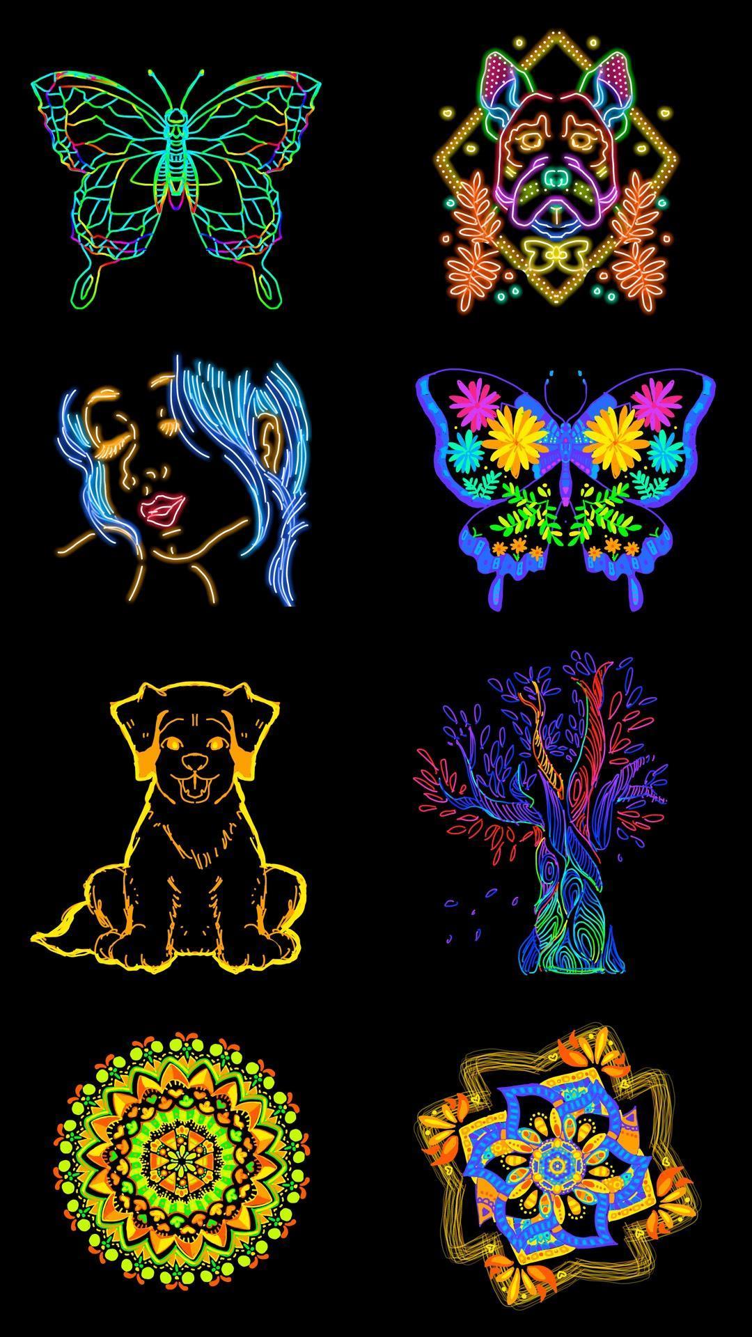 Doodle Master Glow Art screenshot