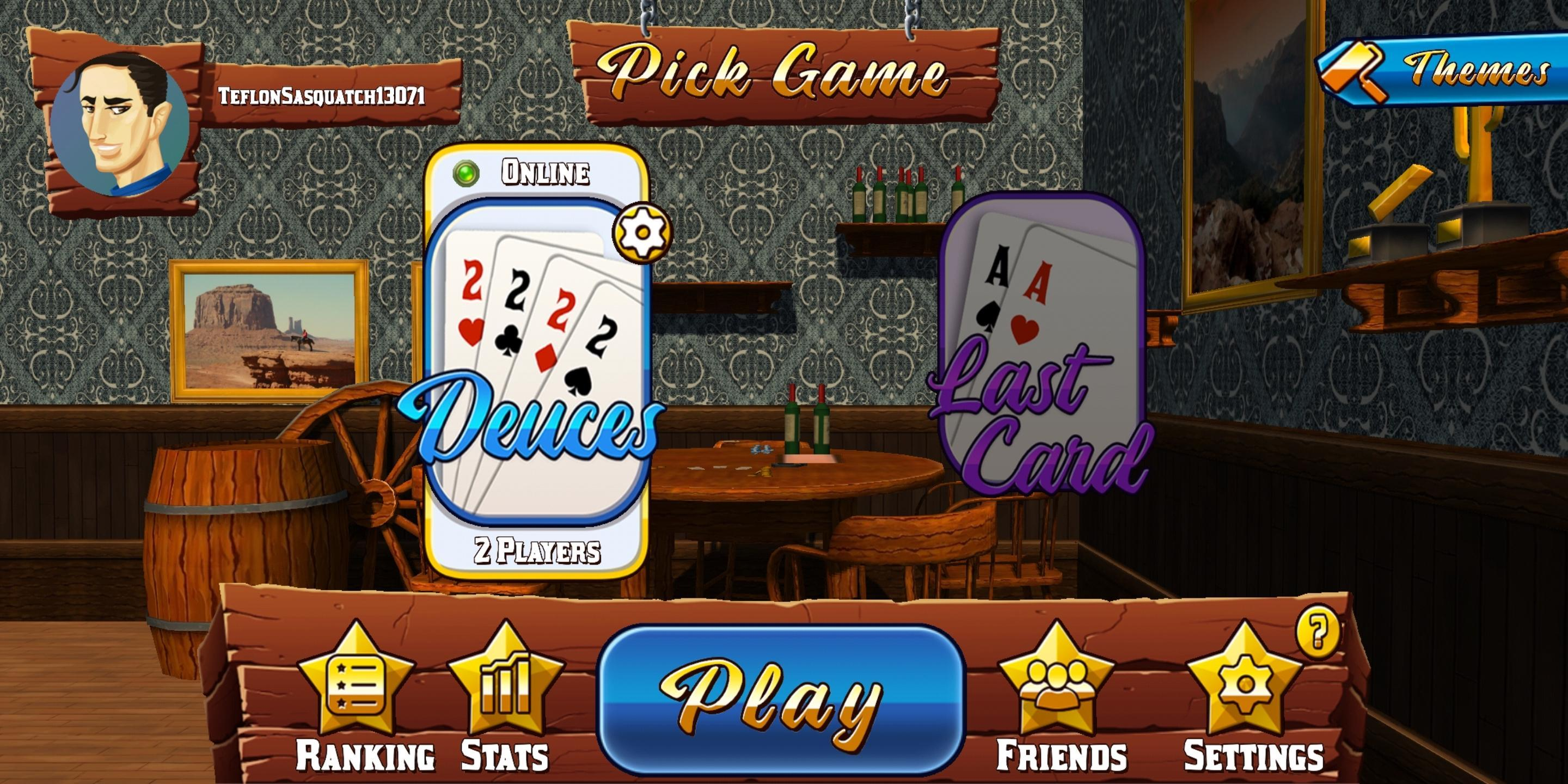 Card Room Deuces & Last Card, Playing Cards 1.2.3 Screenshot 1