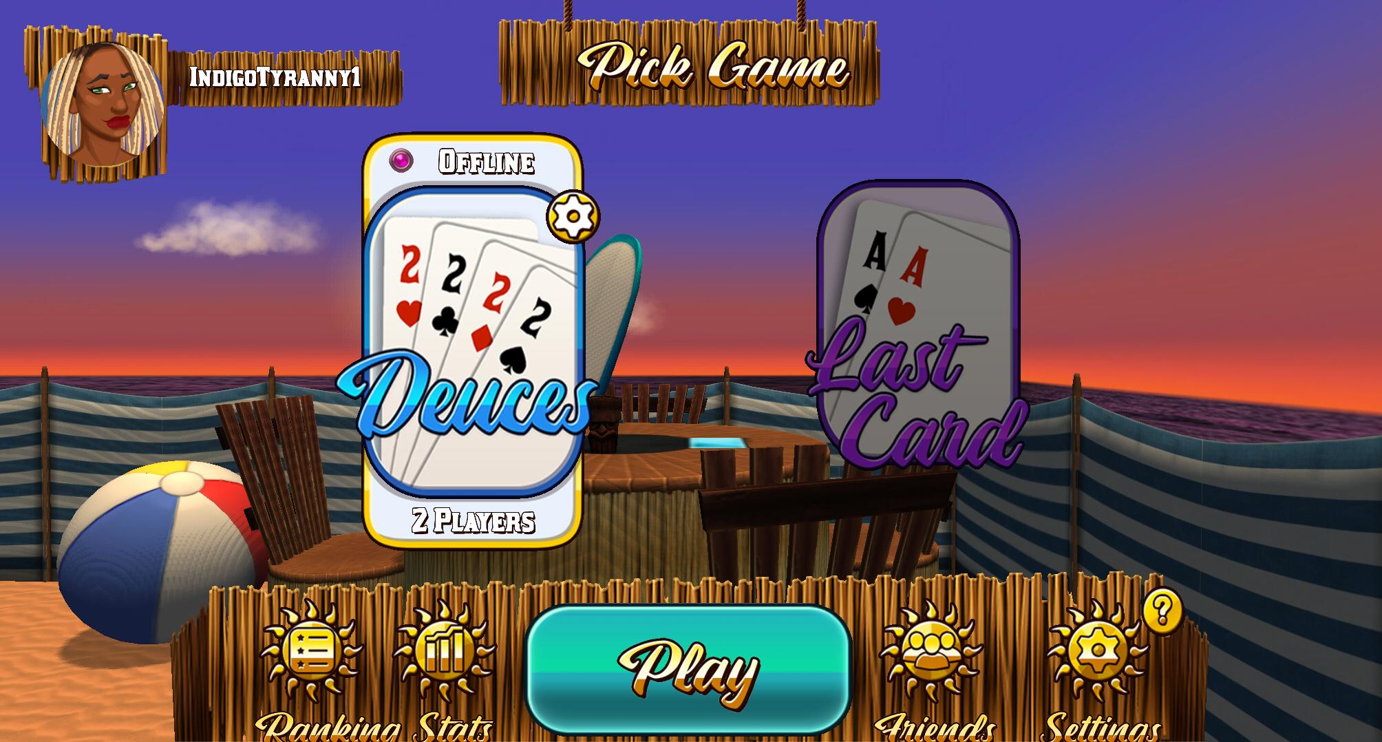 Card Room Deuces & Last Card, Playing Cards 1.2.3 Screenshot 2