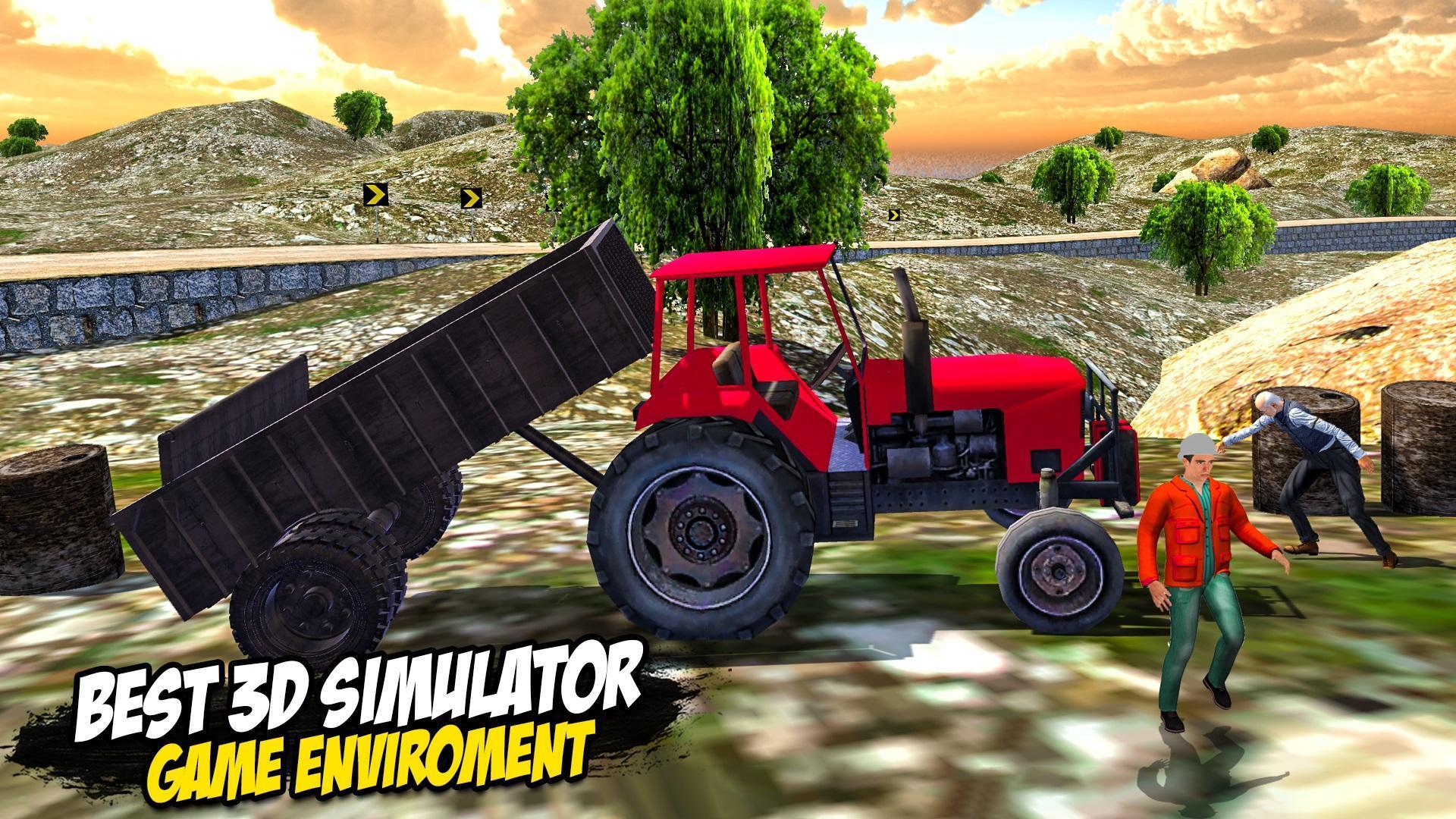 Heavy Tractor Trolley: Tractor Cargo Simulator🚜🚜 3.1 Screenshot 11