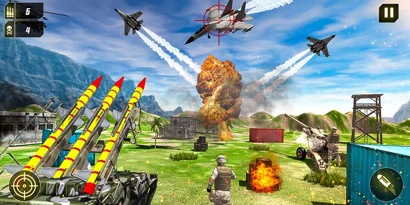 Military Missile Launcher:Sky Jet Warfare 1.0.7 Screenshot 5
