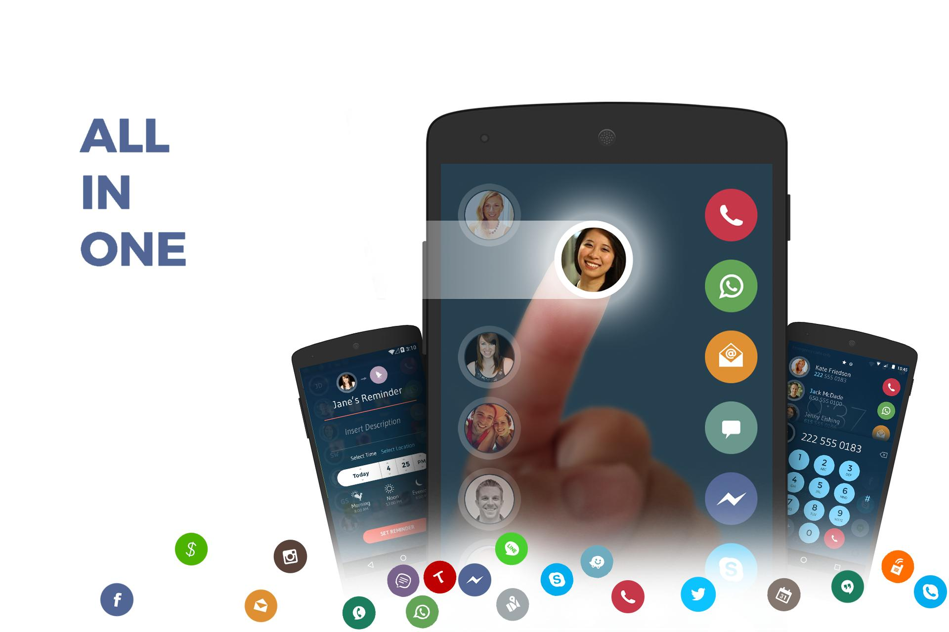 Contacts, Phone Dialer & Caller ID: drupe 3.049.00004-Rel Screenshot 1