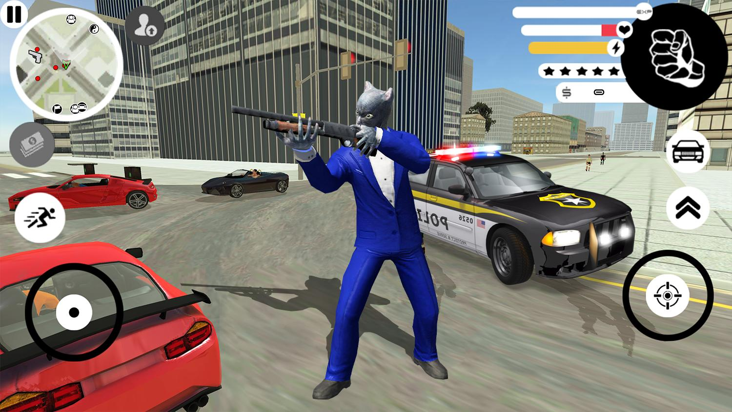 Grand Panther Gangster Rope Hero Vegas Crime 2 Screenshot 4
