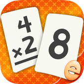 Multiplication Flash Cards Games Fun Math Practice app icon